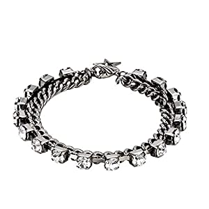 Catkoo Women Rhinestone Star Charm Double Layer Chain Bracelet Bangle Jewelry Gift,Perfect Mother's Day,Valentine's Day…