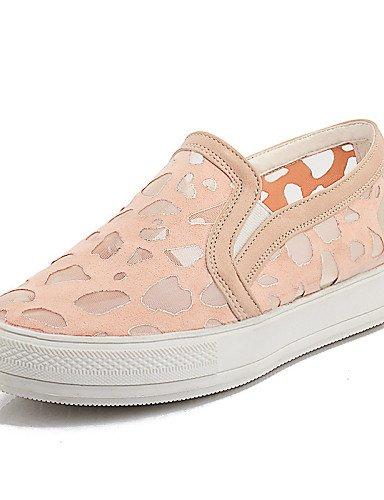 ZQ gyht Zapatos de mujer - Plataforma - Comfort / Punta Redonda / Creepers - Mocasines - Casual / Fiesta y Noche / Vestido - Semicuero -Negro / , pink-us11 / eu43 / uk9 / cn44 , pink-us11 / eu43 / uk9 black-us5.5 / eu36 / uk3.5 / cn35