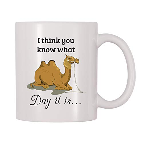 4 All Times I Think You Know What Day It Is Hump Day Camel Coffee Mug (11 oz)