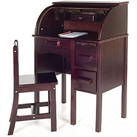 Guidecraft Jr Roll Top Desk Espresso G97302