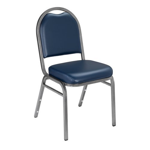 Series 9200 Dome-Back Stacker Chair Upholstery: Vinyl - Midnight Blue, Frame: Silvervein