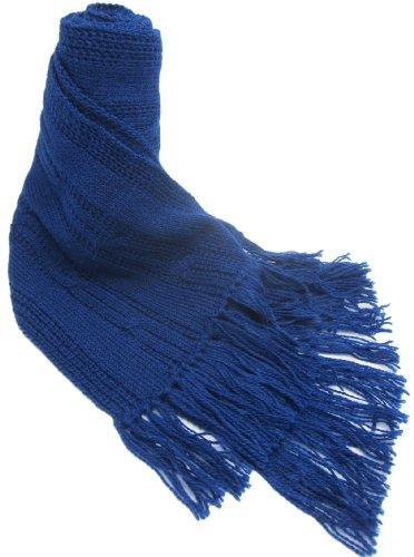 (Handmade PURE ALPACA Natural Fiber Cable Scarf - Santorini Blue (Made to)