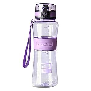 Elegari BPA Free Leak-Proof Large Capacity 53 OZ Purple Nozzle Sport Bicycle Plastic Water Bottle Cover Lip Filter