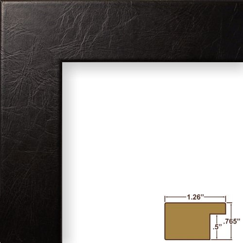 Craig Frames 26093 8 by 10-Inch Picture Frame, Lightly Textured Finish, 1.26-Inch Wide, Black Executive Leather