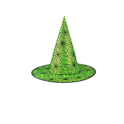 TWGONE Adult Womens Black Witch Hat for Halloween Costume Accessory Cap Holiday Presents