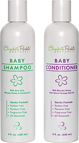 Natural and Organic Baby Shampoo and Conditioner Set - Moisturizing Shampoo & Conditioner for Cradle Cap and Eczema Relief - With Gentle and Hypoallergenic Formula - Safe For Newborn (8 oz)