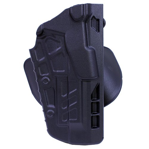 Safariland 7378 7TS ALS Concealment Holster, Flex-Paddle & Belt Loop Combo, Beretta 92, SafariSeven Plain Black, Right Hand
