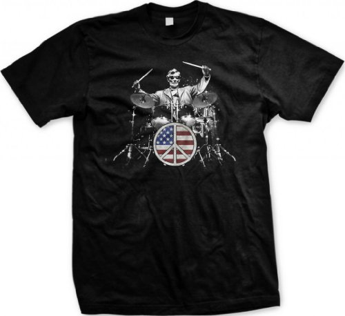 rock-and-roll-101-mens-t-shirt-lincoln-playing-drum-set-flag-peace-sign-tee-shirt-black