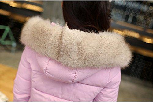 LaoZan Chaqueta Abrigo de invierno con capucha anoraks Chaquetas parka de mujer para invierno Morado