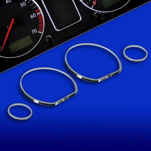 KMH-TR10VW01 - Chrom Tachoringe Ringe fü r Instrumentenanzeige passend fü r Golf3 Vento 6N Jetta 3, kmh-tuning
