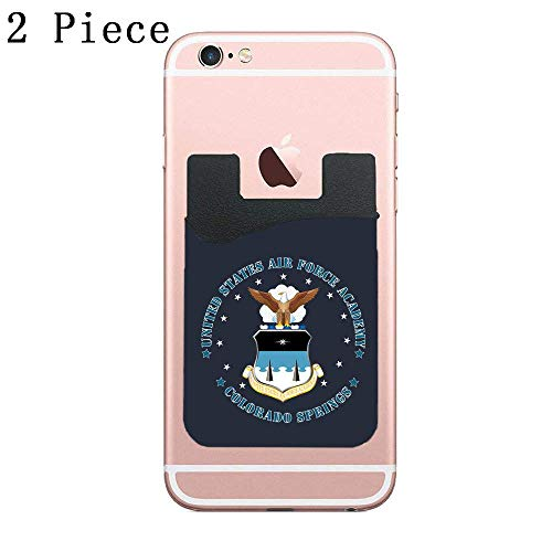 Cellcardphone Air Force Academy USAFA Cell Phone Stick On Wallet Card Holder Phone Pocket for All Smartphones – 2 Piece