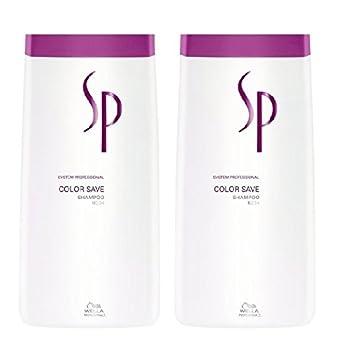 Wella SP Color Save Shampoo 2 x 1000 ml für gefärbtes HaarSystem Professional Care