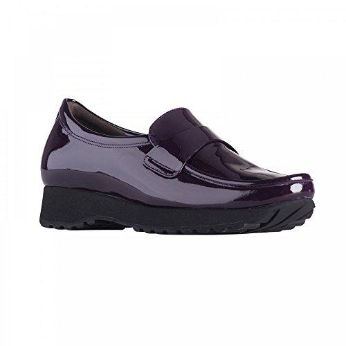 K&s H/frnt Moccasin Purple Patent