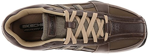 Skechers USA Men's Citywalk Malton Oxford Sneaker,Brown,7.5 M US