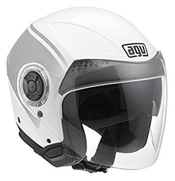 AGV Helmets Casco de Moto, color World Blanco/ Gun Metal, talla XS