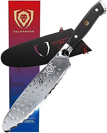 DALSTRONG Cuchillo Multiusos - Shogun Series X - Cuhillo de Untar de 15,24 cm - Acero Japonés AUS-10V - Tratado al Vacío - Funda Incluida