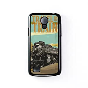 Travel By Train Black Hard Plastic Case Snap-On Protective Back Cover for Samsung® Galaxy S4 Mini by Nick Greenaway + FREE Crystal Clear Screen Protector