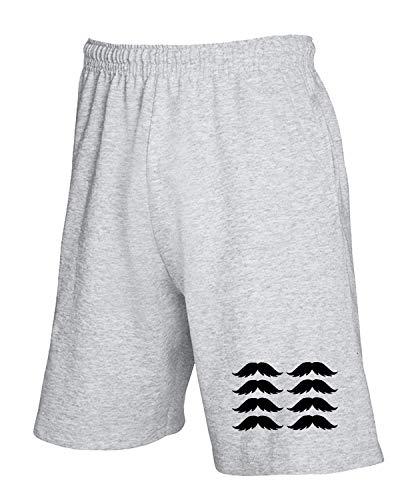 Fun2560 Pantaloncini Grigio shirtshock Tuta Mustache T O8ZIx