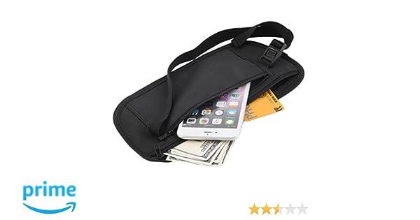 Outdoor Camping Secret Travel Waist Money Belt Hidden Security Safe Pouch Ticket Bag Apparel Accessories