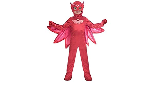 Owlette Classic Child Costume Red Disney Jumpsuit PJ Masks Superhero Disguise