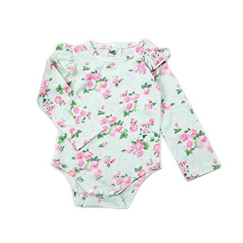 GoodLock Baby Girls Fashion Romper Newborn Floral Print Long