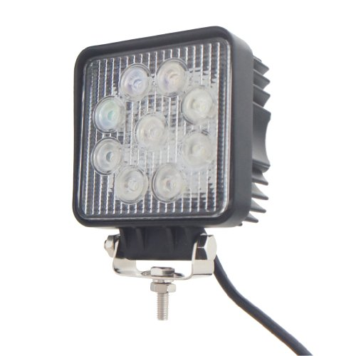 TMH 27w Square Shape 30 Degree LED Work Light Spot Lamp Off-road, 4wd, 4x4, Utv, Sand Rail, Atv, Suv, Motorbike, Motorcycle, Bike, Dirt Bike, Bus, Trailer, Truck, Train, Mining Truck, Excavator, Bulldozer, Crane, Road Roller, Fork Lift, Fire Engine, Police & Rescue Vehicle, Military Vehicle, Camping, Courtyard Lamp, Fishing, Boat, Yacht, Road Lamp, Street Light, Fog Lamp, Day Light