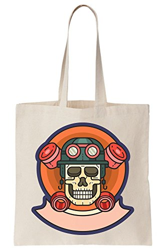 Bag Canvas Tote Animated Skull Commander Rider wq46wtXx1