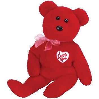Valentines Day Beanie Baby - TY Beanie Baby - SECRET the Bear