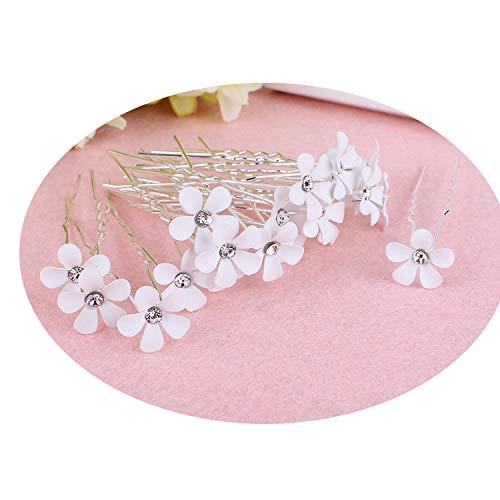 (20PCS Fashion Clear Crystal Rhinestone Flower Bridal Wedding Prom Party Hair Pins Women Jewelry)
