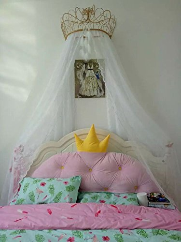 European wrought iron bedspread mosquito net drapery curtain decorative crown netting curtains-A ()