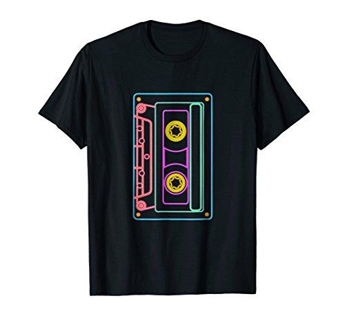 80s Retro Neon Sign Vintage Cassette T-Shirt in 5 colors