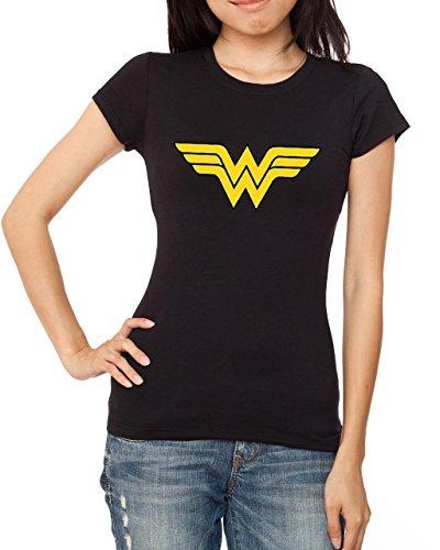 Decrum superheroine Wonder Woman Black Tshirt XXL (Wonder Woman T Shirts)
