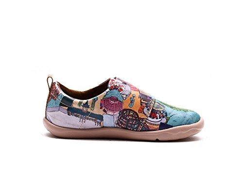 UIN Le monde coloré Chaussures de cuir multicolore pour enfant (adolescent)