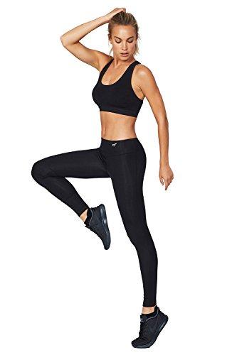 Boody Body EcoWear Active Women's Full Leggings Made from Natural Organic Bamboo Viscose - Soft Breathable Eco Fashion for Sensitive Skin - Black, X-Large ()