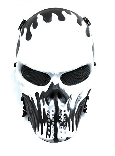 Everlife Shop CS Protective Mask Halloween Airsoft Paintball Full Face Skull Skeleton Mask -