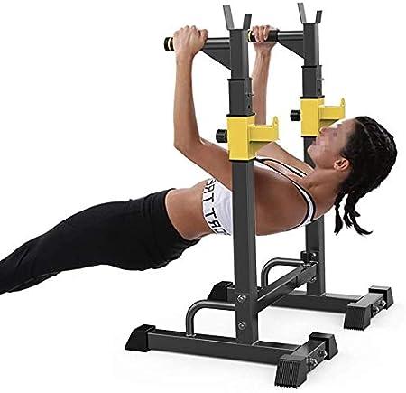 Dip estación de servicio pesado Dip rack totalmente Pull Up paralelo entrenamiento Polo Inicio ejercicio de la gimnasia Varilla de nivel de agarre antideslizante for la sala o en el garaje barra domin