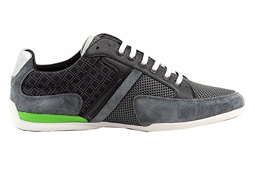 Hugo Boss Mens Akeen Clean Charcoal Sneakers Schoenen Charcoal