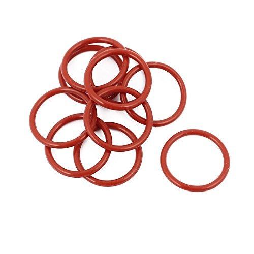 DealMux 10Pcs Red 16 mm x 1, 5 mm de caucho de silicona Gasket O anillo de estanqueidad del anillo a prueba de calor DLM-B01N6RYL5O