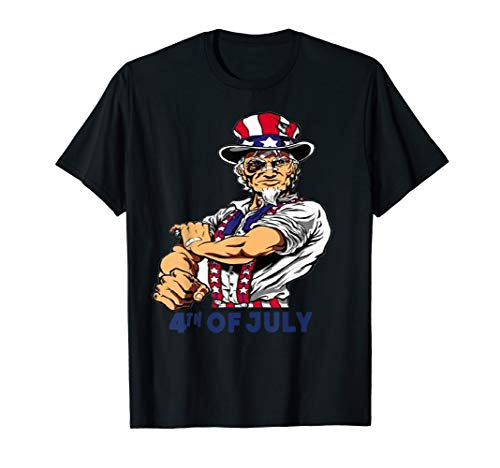 Funny Uncle Sam Shirt Patriotic 4th of July Costume Gifts T-Shirt