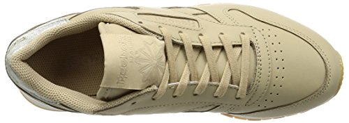 Gum Classic Leather Diamond Damen Oatmeal Laufschuhe Beige Met Chalk Reebok Bxqz4R