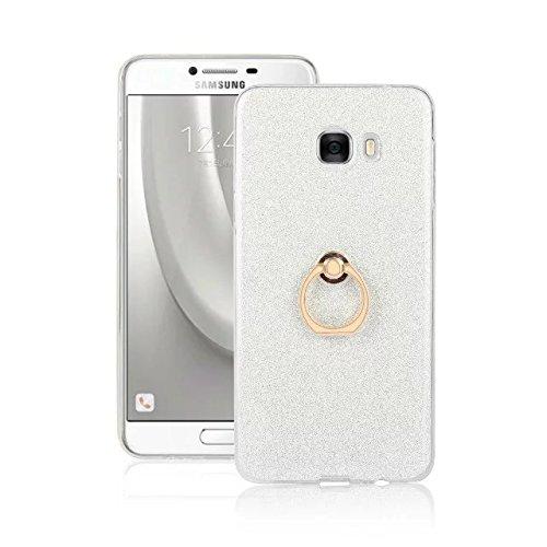 Silicone Samsung choc Galaxy White Bling souple Anti Scratch White doux Housse C7 TPU Anti avec style étincelant élastique style étui Color pour Étui YWpTqz