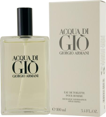 Acqua Di Gio By Giorgio Armani For Men Edt Spray Refill 3.4 Oz 3.4 Ounce Edt Refill
