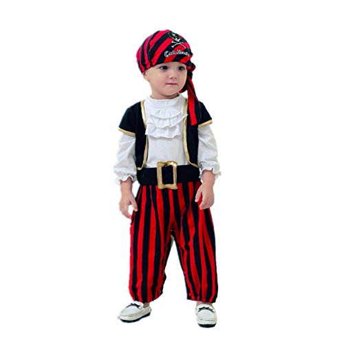 Baby Romper Toddler Jumpsuit Pirate Costume for Baby Cotton Halloween Costumes Outfit -