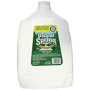 Poland Spring Brand 100% Natural Spring Water, 1-gallon plastic jug