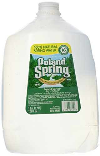 Poland Spring Brand 100% Natural Spring Water, 1-gallon plastic jug ()