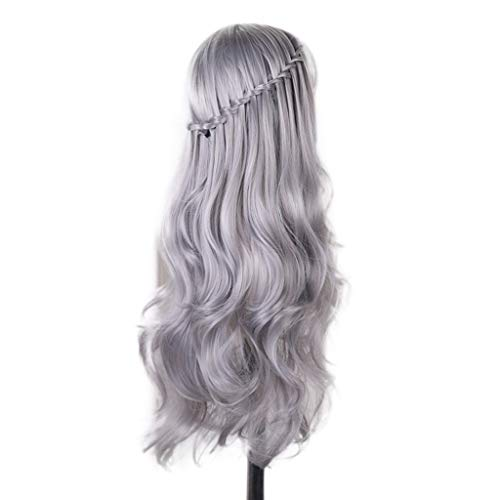 Adagod Fashion DIY Natural Wave Wigs for Women Middle Part Heat Resistant Cosplay Wig -