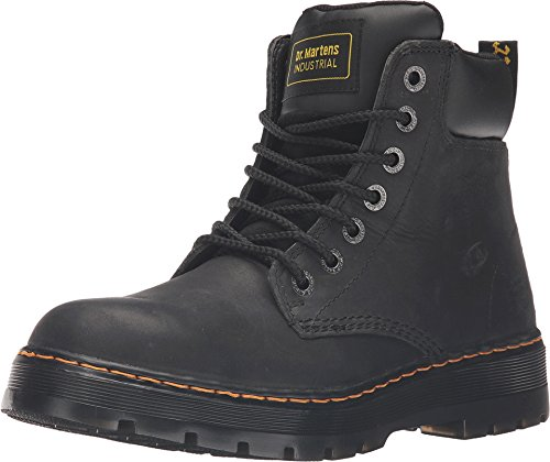 (Dr. Martens Work Men's Winch Service 7-Eye Boot Black Wyoming UK 7 (US Mens 8, US Womens 9) D - Medium)