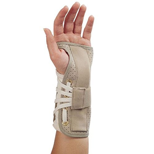Deluxe Lace-Up Wrist Splint Right Small Physical Therapy Aids 77396