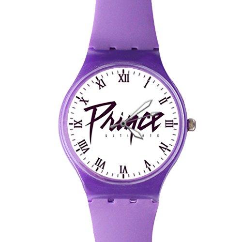 G Store Csdw05181578 Prince Ultimate Quartz Plastic Purple Dial Watch