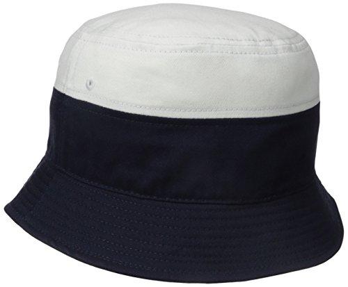 e3b5a026e1c839 Lacoste Men's Sport Supporter Flag Crocodile Bucket Hat,  Marine/Blanc/Cochenille, One